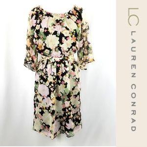 Lauren Conrad Floral Midi Dress Size Large